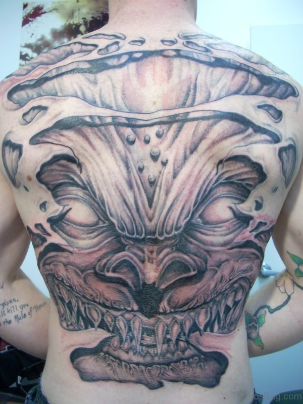 Demon Tattoo On Full Back