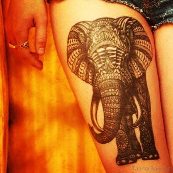 Designer Elephant Ttatoo