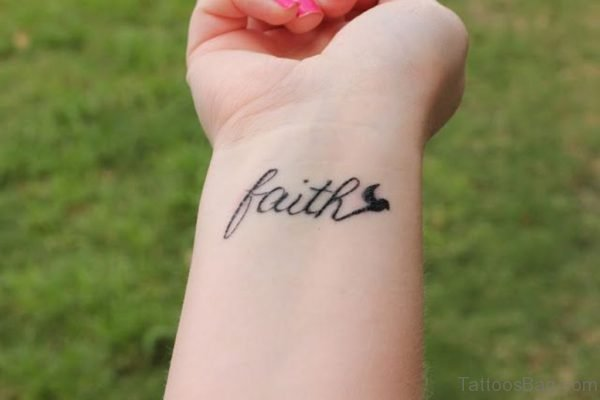 Designer Faith Wrist Tattoo