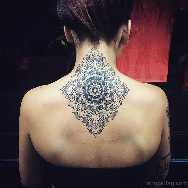 Designer Mandala Tattoo Neck