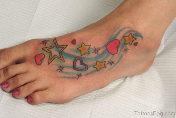 Designer Star Tattoo