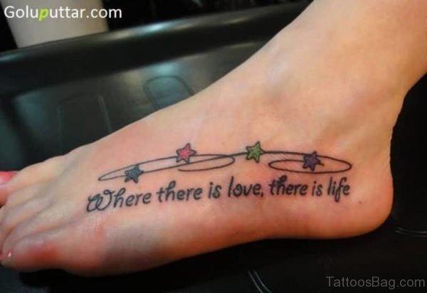 Designer Star Tattoo For Girls
