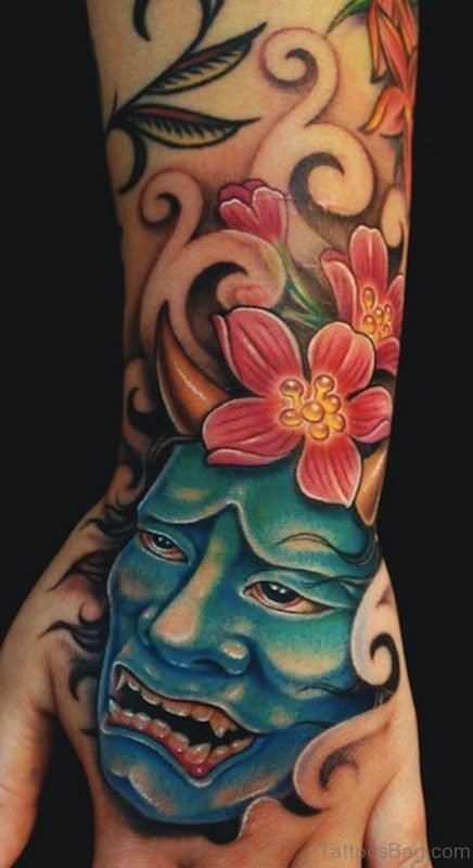 Devil And Lotus Tattoo