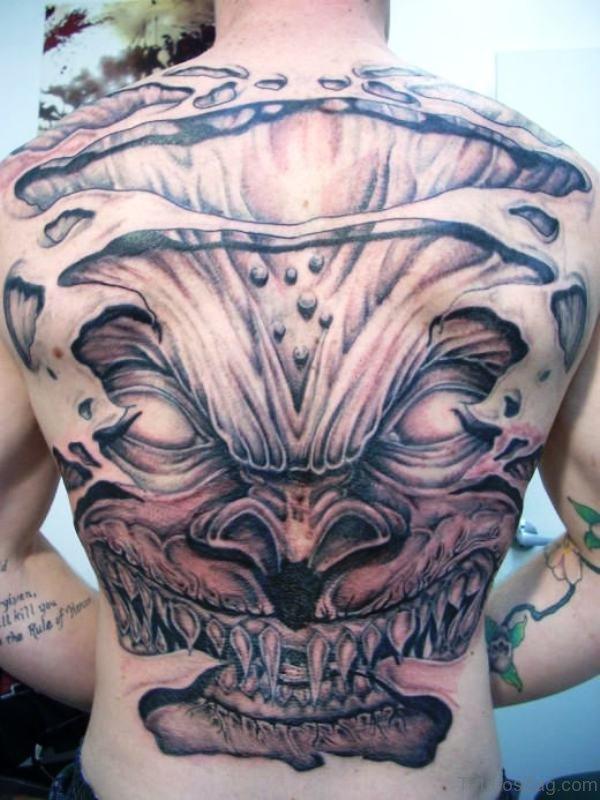 Devil Back Tattoo