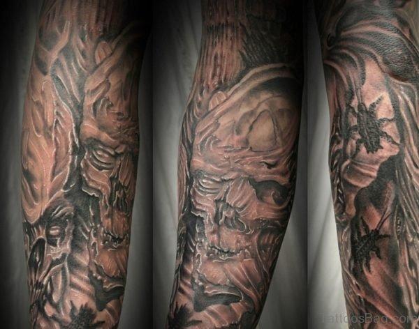 Devil Demon Horrer Tattoo In Arms