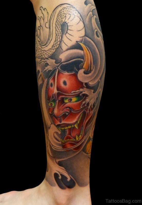 Devil Mask Tattoo