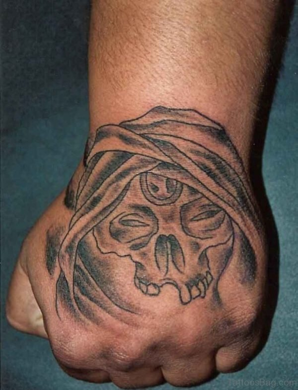 Devil Skull Hand Tattoo Design