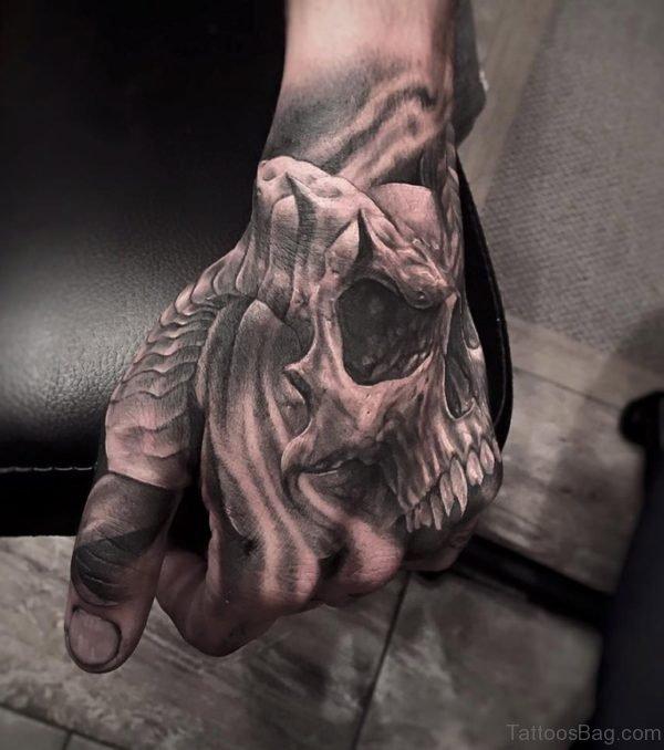 Devil Skull Tattoo