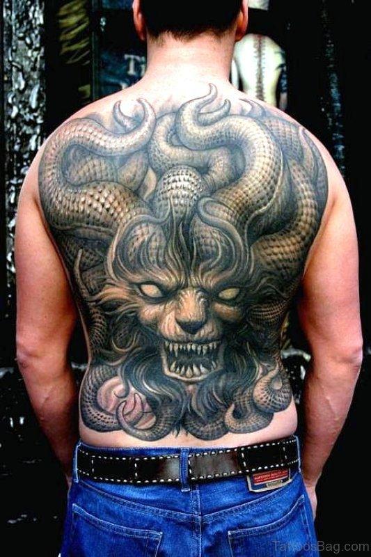Devil Tattoo On Back