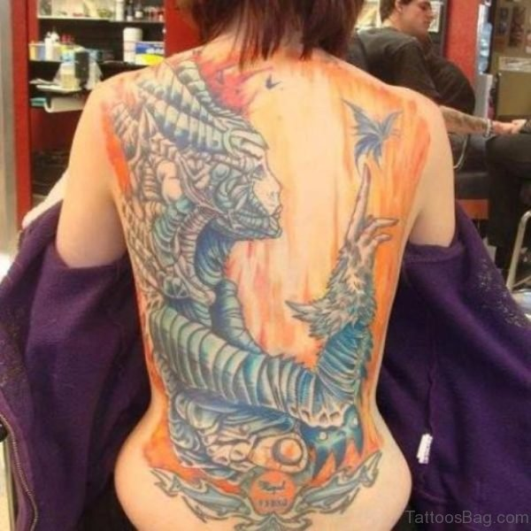 Devil Tattoo On Back