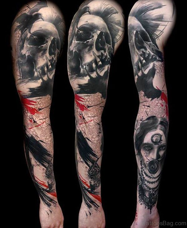 Devil Tattoos In Arms