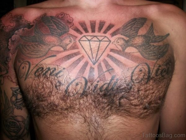 Diamond And Birds Tattoo