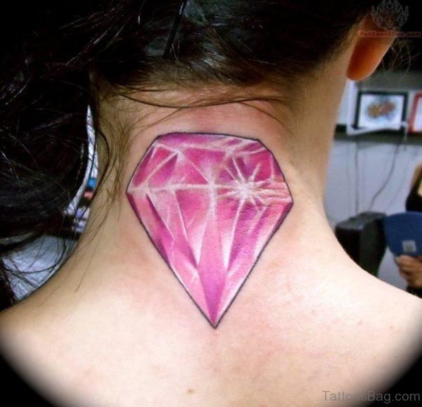 Diamond Tattoo Design On Nape