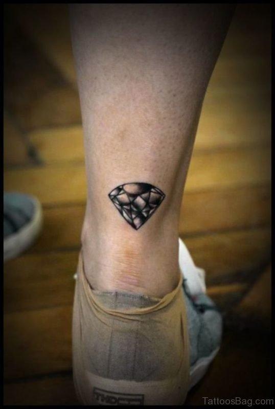 Diamond Tattoo On Ankle