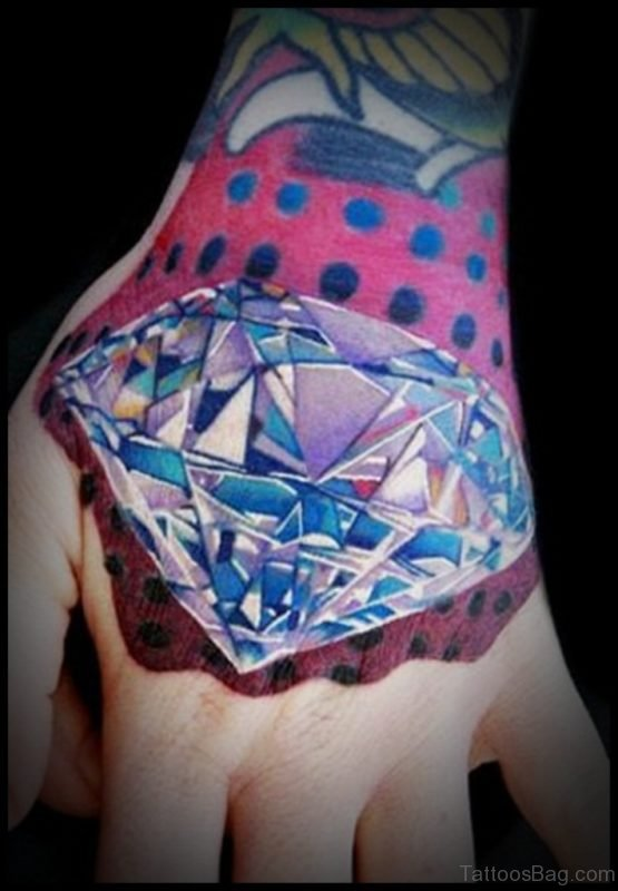 Diamond Tattoo On Hand