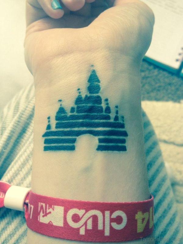 Disney Castle Wrist Tattoo