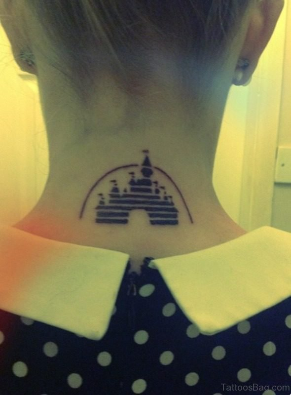 Disney Tattoo On Nape