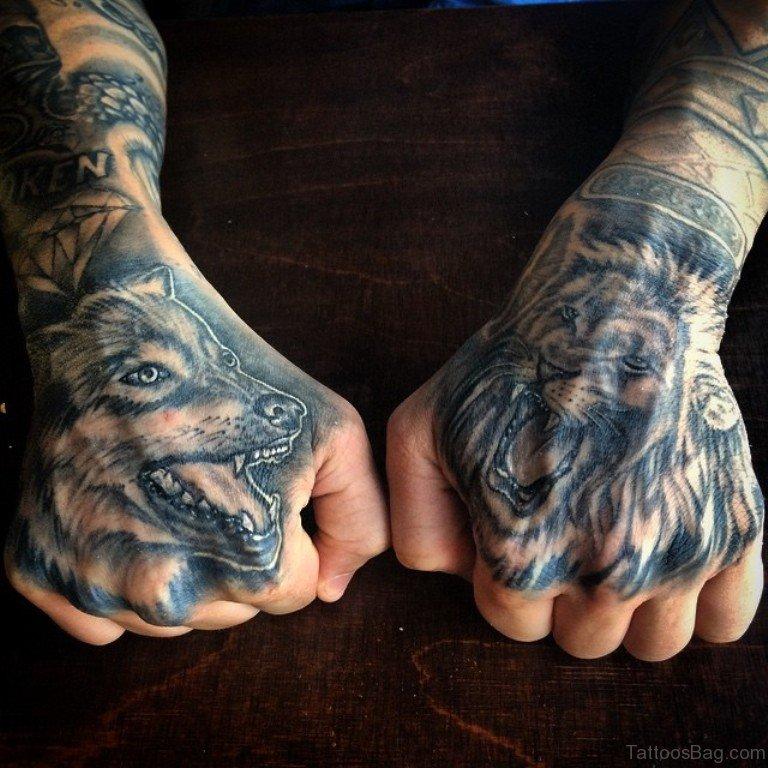 41 best lion tattoos on hand. Black Bedroom Furniture Sets. Home Design Ideas