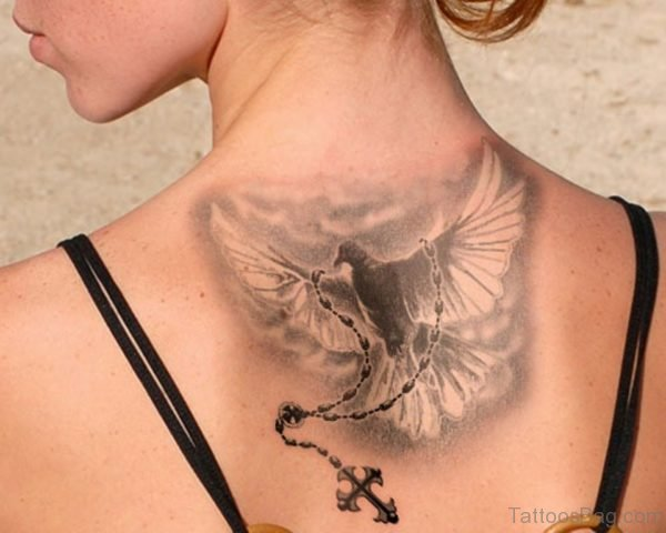 Dove And Rosary Tattoo