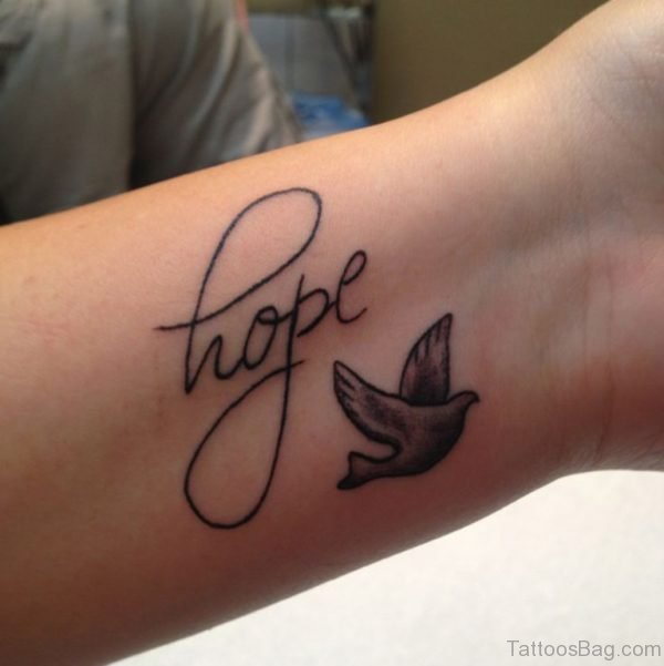 Dove Tattoo Design On Wrist
