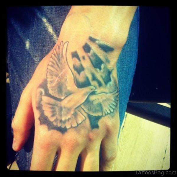 Dove Tattoo On Hand