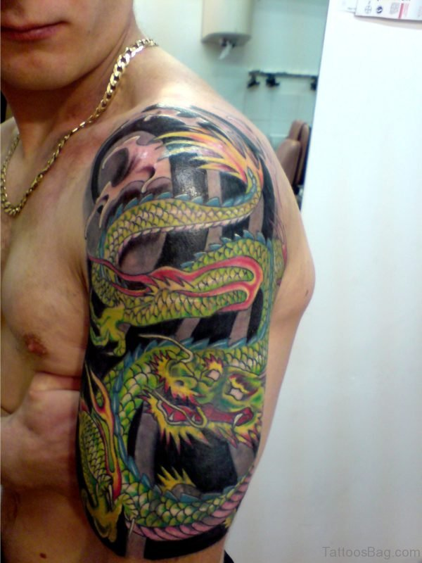 Dragon Tattoo Design On Shoulder