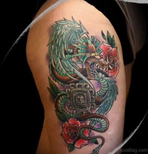 Dragon Tattoo On Thigh