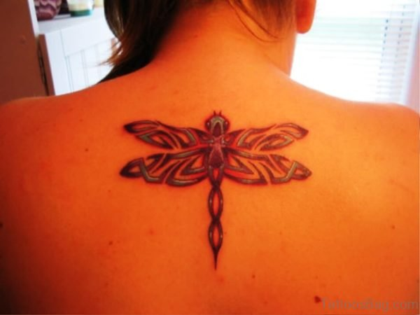 Dragonfly Tattoo Design On Back