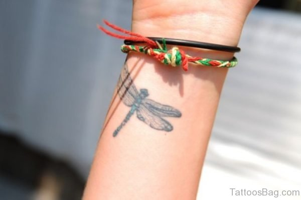 Dragonfly Tattoo Design On Wrist