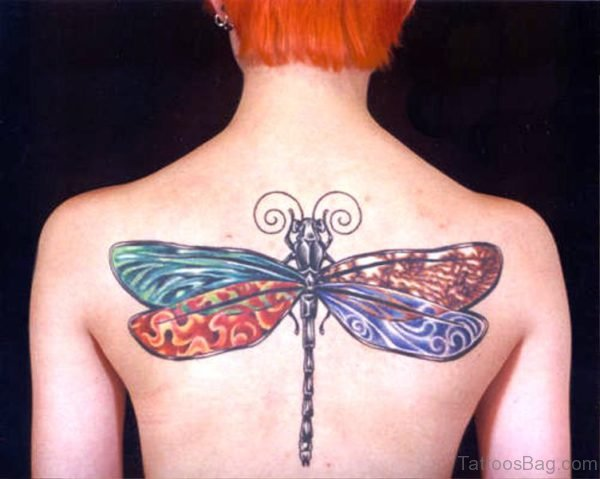 Dragonfly Tattoo On Back