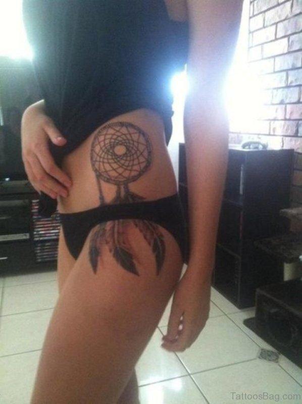 Dreamcatcher Tattoo On Stomach