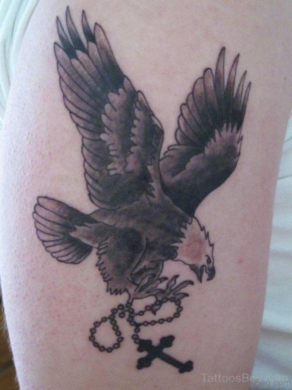 Eagle And Cross Tattoo