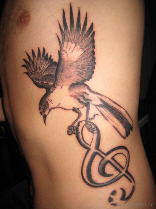 Eagle Bird Tattoo Design On Rib