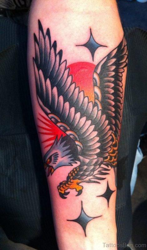 Eagle Tattoo Design On Arm