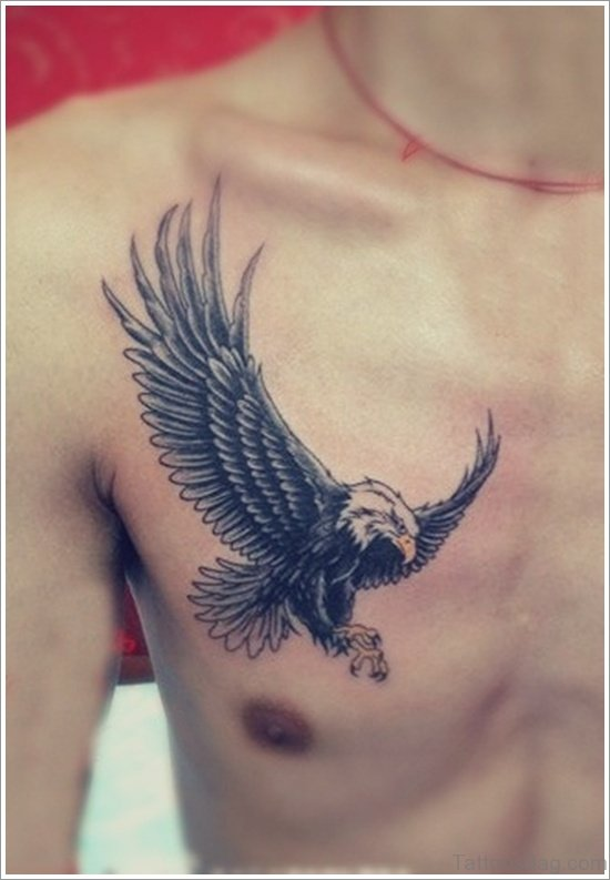 Eagle Tattoo Design On Chest