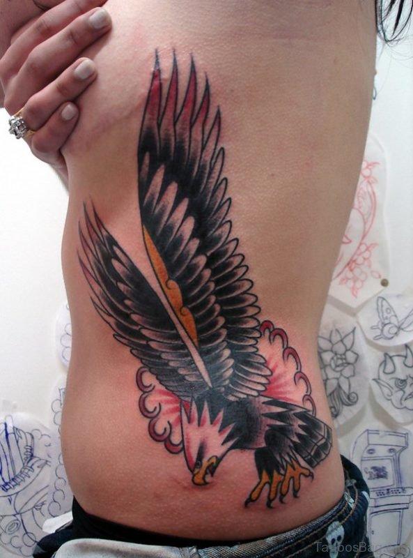 Eagle Tattoo Design On Rib