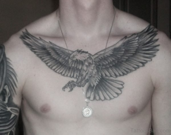 Eagle Tattoo Design On chest gn On chest TB1047ST1047