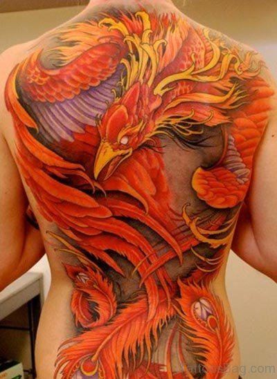 Eagle Tattoo On Back Body