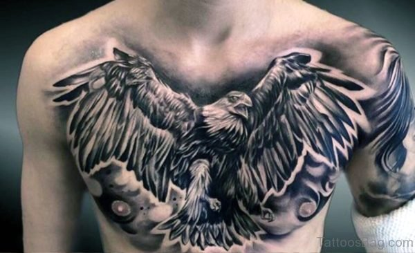 Eagle Tattoo On Chest 1