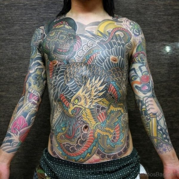 Eagle Tattoo On Chest Image
