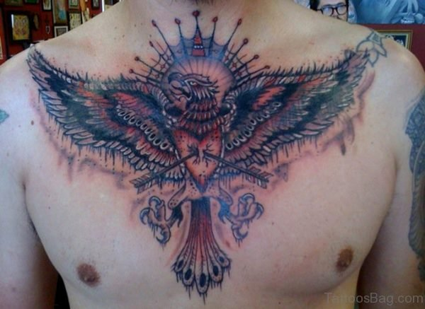 Eagle Tattoo On Chest.