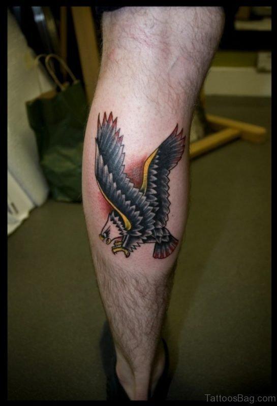 Eagle Tattoo On Leg