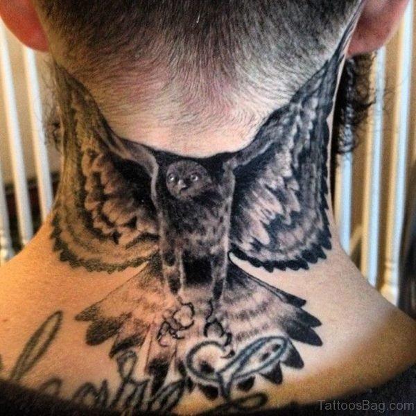 Eagle Tattoo On Nape