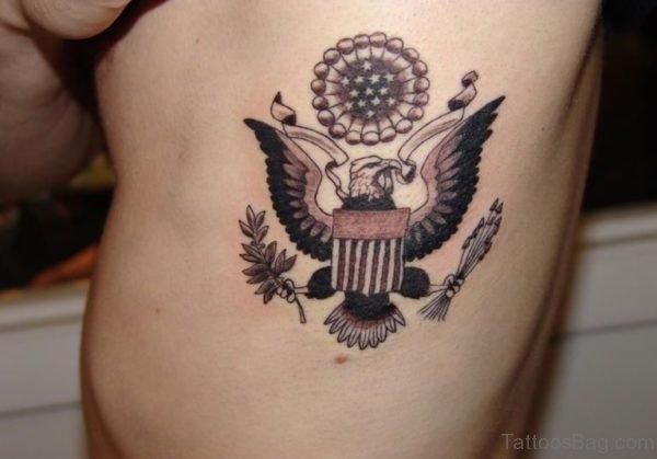 Eagle Tattoo On Rib