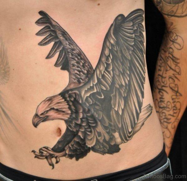 Eagle Tattoo On Stomach