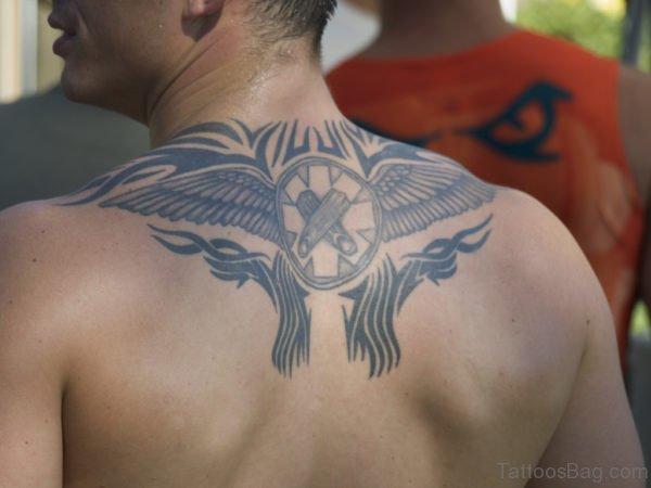 Eagle Wings Tattoo On Back