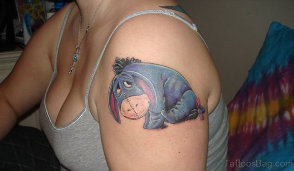 Eeyore Tattoo On shoulder