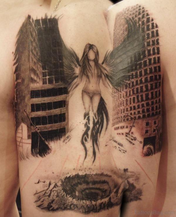 Elegant Angel Tattoo