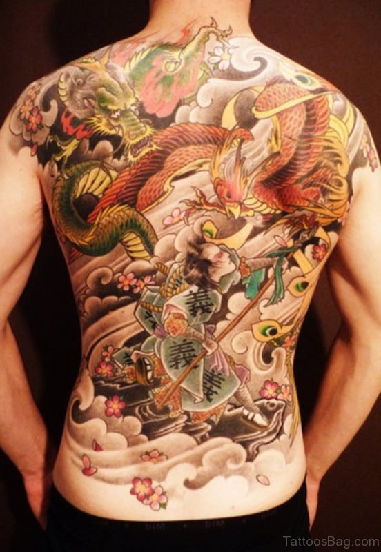 Wonderful Full Back Tattoo