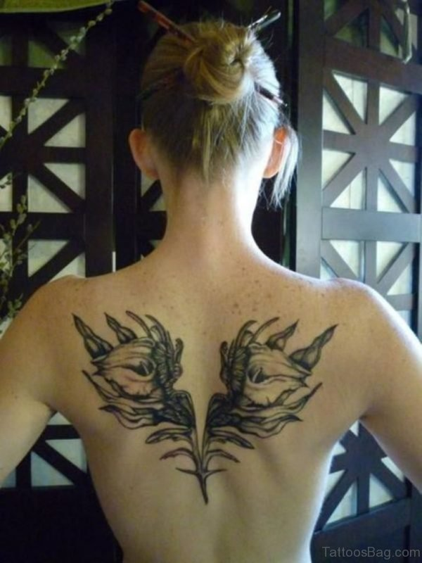 Elegant Back Tattoo